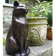cat garden ornaments bronze cat garden sculpture