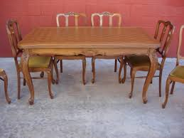 Furniture French Antique Dining Set Dining Table Antique Set Of - Antique dining room furniture