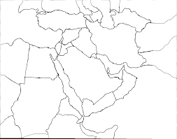 outline map middle east middle east blank map for of roundtripticket me