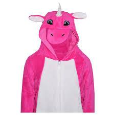 kids girls boys a2zonesie one piece soft fluffy unicorn halloween