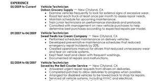 Heavy Duty Mechanic Resume Examples Automotive Technician Skills List Automotive Technician Resume