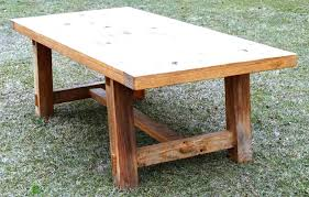this old house picnic table building a trestle table reclaimed barn wood trestle table