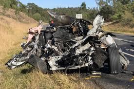 teenager dies in fiery car crash west of brisbane abc news