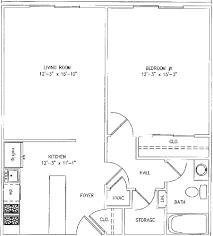 1bedroom floor plan square foot house modren apartment plans feet