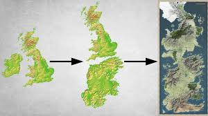 Real World Map The Real Life Game Of Thrones Part 1 Is Great Britain Westeros
