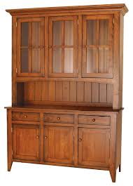 ashville farmhouse cherry wood hutch amish furniture solid