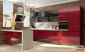 high gloss acrylic kitchen cabinets op15 a08 modern red high gloss acrylic kitchen cabinet