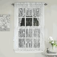Lorraine Curtains Songbird Lace Curtain Panel Or Kitchen Tier Curtain By Lorraine