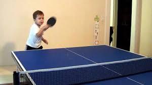 ping pong table playing area polish kid playing ping pong table tennis youtube