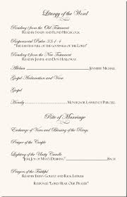 wedding anniversary program wedding program exles wedding program wording wedding