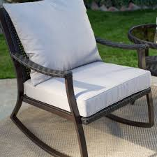 Garden Rocking Bench All Weather Wicker Outdoor Patio Porch Rocking Chair The