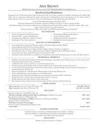 Sample Real Estate Broker Cover Letter Resume Of Real Estate Agent Resume For Your Job Application