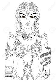treasure chest pharaoh coloring pages cleopatra queen of egypt