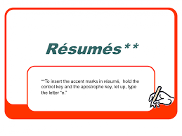 Resume Accents Resume Accent Marks Resume Ideas
