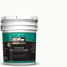 behr premium plus 5 gal pr w15 ultra pure white semi gloss