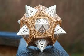 diy kit for star orb dodecahedron sacred geometry model kit