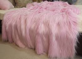 light pink fur blanket house home faux fur throws faux fur throws fabric and fashion