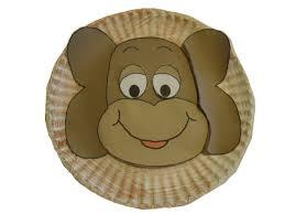 Paper Plate Monkey Craft - church house collection monkey paper plate craft
