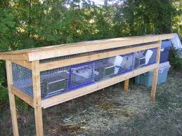 How To Build A Rabbit Hutch Out Of Pallets Homemade Rabbit Cages Rabbit Barn Meat Rabbits Pinterest