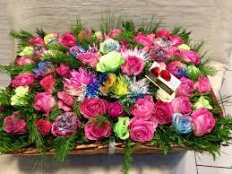 garden with rainbow roses