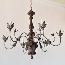 Iron And Wood Chandelier Florentine Wood Chandelier The Big Chandelier