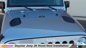 jeep vented hood daystar hood vent install youtube