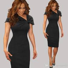 2016 new women elegant casual dresses pinup bow ruched tunic