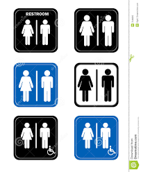 Mens And Womens Bathroom Signs Restroom Signs With Men And Women Handicap Washro Royalty Free