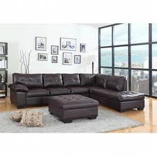 Faux Leather Sectional Sofa Asia Direct 2 Pc Emily Ii Collection Espresso Faux Leather