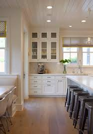 kitchen love light wood floor wood boarded ceiling large
