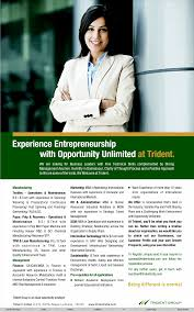 jobs in trident limited vacancies in trident limited