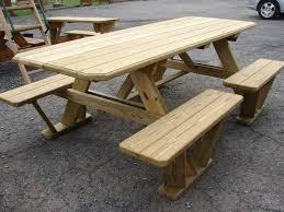 Diy Small Round Wood Park Picnic Table With Detached Octagon Bench by Mais De 25 Ideias únicas De Wooden Picnic Tables No Pinterest