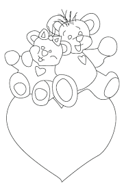 valentine u0027s teddy bear coloring sheet coloring drawing