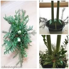 holiday christmas floral centerpiece diy