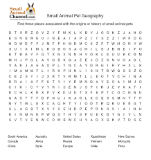 critter word searches