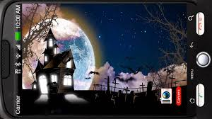 halloween menu moving background haunted house full moon bats deluxe hd edition 3d live wallpaper