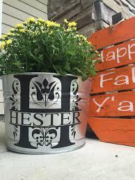 personalized flower pot personalized flower pot personalized steel