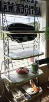 Storage Bakers Rack Ideas Wrought Iron Bakers Rack For Inspiring Best Material Of