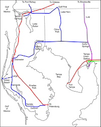 Tampa Bay Map Simplified Map Of Tampa Bay Area Railroads In 1915 Flickr