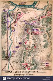 Map Tennessee by Map Of Battle Of Lookout Mountain Tennessee November 24th 1863