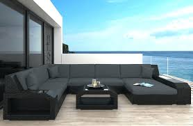 black wicker patio sofa outdoor replacement cushions furniture no
