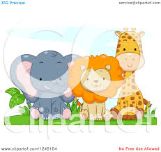 jungle jeep clipart clipart of a cute baby elephant lion and giraffe sitting royalty