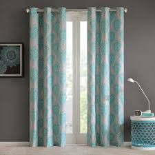 Curtains Printed Designs Design 2 Pack Lilly Damask Printed Window Curtains