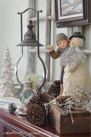 winter decorations decorating my mantel for winter grant
