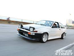 lexus v8 corolla for sale 1986 toyota corolla gt s ae86 driving on lsd super street