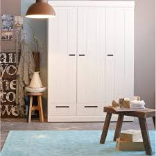 White Wardrobe Cabinet Connect Contemporary 3 Door Cupboard Cabinet With Storage Kids Desks