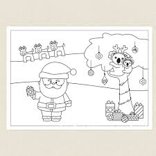 australian christmas colouring sheet cleverpatch