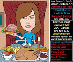 thanksgiving email cards real estate agent caricature cartoon business card illustrator