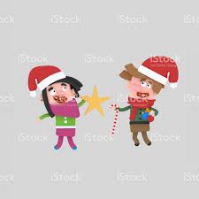 children holding christmas ornaments stock vector art 887483148