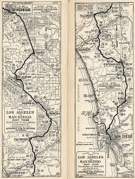 Original Route 66 Map by U S 395 San Diego Original U0026 Final Routes